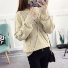 New Style Soft Wool Plus Size Pullover 2017 Autumn Korean Women Casual Lips Fashion Sweater Ladies L