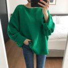 Plus Size Autumn Women Knitting Pullover 2017 Fashion Lace Up Green Bow Long Sleeve Loose Casual Jum