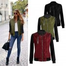 High Quality Winter Autumn Womens Bomber Jacket Light Thin Down Female Outerwear Coat Slim Patchwork