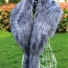 Large fox fur collar raccoon fur decoration coat collar faux fur shawl scarf cape women winter warm