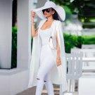 Women Solid Long Cloak Fashion Overcoat Ponchos Female Casual Robe Ruffle Warm Winter Turndown Long