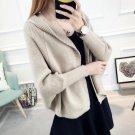 ENSOGO 2017 Autumn Sweater Woman Even Hat Knitting Unlined Upper Garment Short Fund Loose Coat Woman