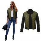 Bomber Jacket Women Slim Basic Coats Jacket Zipper Chaquetas Outwear 2017 Green Bomber Jackets Autum
