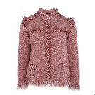 WOMAIL Fashion Vintage Retro Open Stitch Trimming Texture Outwear Coat  Colorful Bomber Jacket Outwe