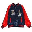 2018 new autumn spring women bird jackets woven embroidery baseball uniform jacket coat collar femal