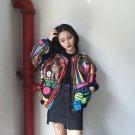 queen embroidery bomber jacket women Harajuku pilot jacket coat 2017 casual printing basic baseball