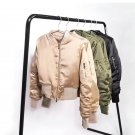 Autumn Vintage Satin glossy Women Short Bomber Jackets Trendy Spring Casual Basic Coats Slim Ladies