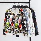 XXL,XXXL,4XL Bomber Jacket Print Flowers Women Jacket Coat Casual Baseball Jacket Sukajan Zipper Cha