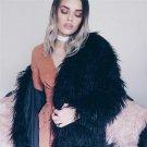 Fluffy long faux fur coat womens Winter fake fur streetwear pink coat female Fashion colored fur coa