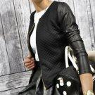 2016 Autumn Women Fashion Casual PU Leather Jacket  Zipper Long Sleeve Top Outwear Parka Coat Zipper