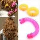 8pcs Girls Curler Hair Curlers Elastic Ring Bendy Curler Spiral Curls DIY Tool Girl Women Accessorie