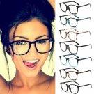 Fashion Brand Women Sunglasses Eyeglasses Frame Retro Vintage Clear Lens Glasses Metal Plain Optical