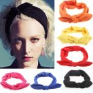 1Pcs Fashion Bowknot Hair Bands Headbands Elastic Stretch Rabbit Twisted Knotted Turban Hairdressing