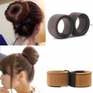 1PC Synthetic Wig Donuts Bud Head Band Ball French Twist Magic DIY Tool Bun Maker French Dish Made H