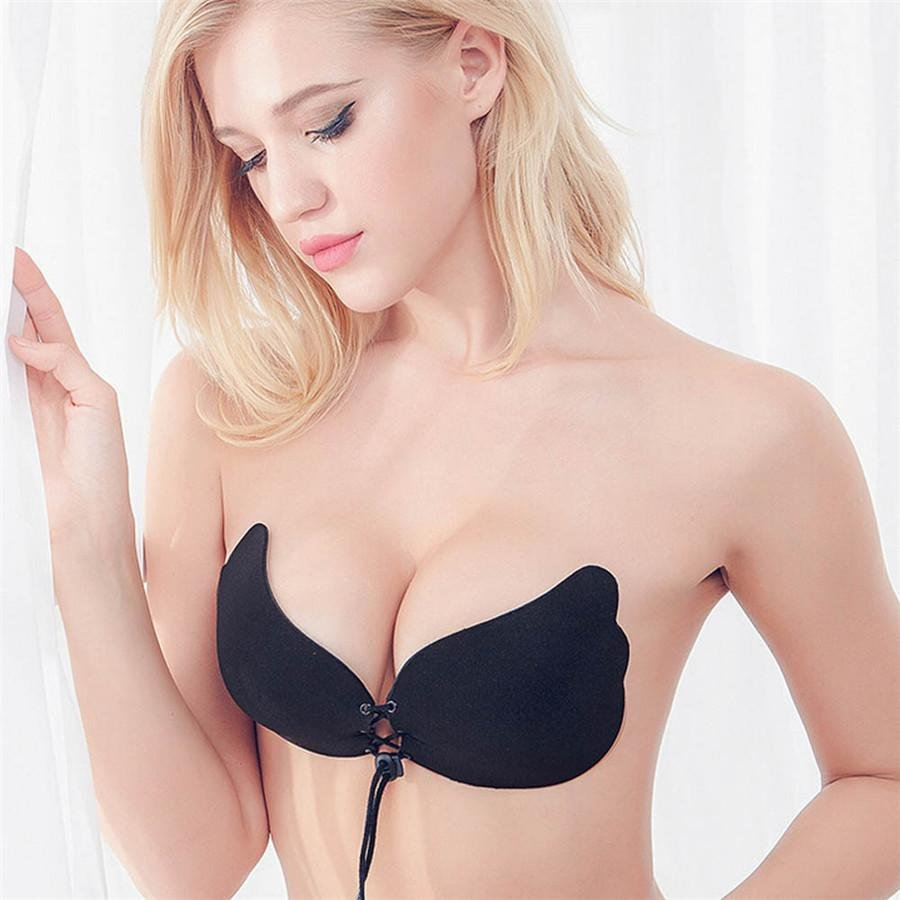 #4522 2017 New Sexy Women Instant Crescent shape Breast Lift Invisible Silicone Push Up Bra