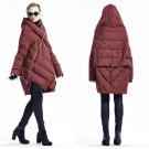Women\'s down jacket 2016 New Winter Vintage Hooded 90% White duck down Fashion Down Coat Medium Lon
