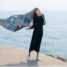 Plaid Cotton Scarves Stoles Women Summer Tassel Shawls and Wraps Floral Pashmina Soft Pareo Beach Sc