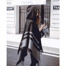 Hooded Ponchos and Capes Women\'s Winter Scarves Wool Hood Poncho Scarf Oversize Pashmina Cashmere S