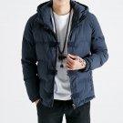 2017 Men Parkas Solid Winter Jacket Men Hooded Thick Warm Overcoat Man Jaqueta Masculino Inverno Chi