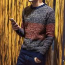 2017 New Trand Autumn Fashion Pullover Striped  Clothing Men\'s Sweaters Slim Fit Male Pullover Knit