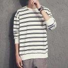 2017 Korea Autumn New striped T-shirt Casual Mens Cotton Striped Long Sleeve T Shirt Men\'s Fashion