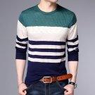 Men\'s Long Sleeve Pullovers Cotton Thin Wool Korean Style Autumn Round Neck Computer Knitted Regula