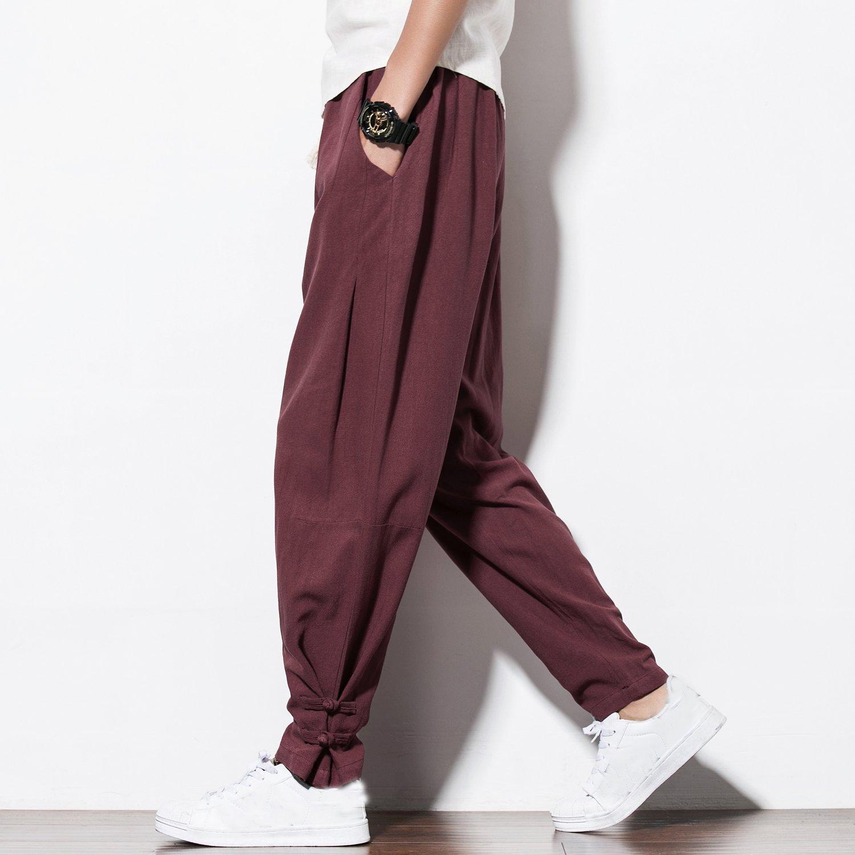 2017 Autumn New Harem Pants Men Casual Sweatpants Elastic Waist  Plus Size Brand Clothing  Mens Jogg