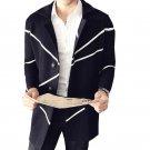 Geometric Mens Sweater Fashion Long Cardigan Loose Long Mens Cardigans Pour Homme Elegant Stylish He