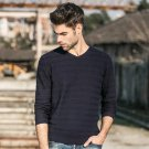 new arrival fashion spring autumn men sweater v-neck knitwear casual pullover hot sale slim fitness