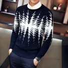 Brand Clothing Sweater Men Fashion Designer 2017 Slim Fit Pull Homme Long Sleeve Round Collar Casual