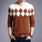 Men Pullovers Cashmere Wool Sweater Long Sleeve Tops Christmas Sweaters Male Pullover Tops