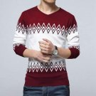 Slim Knitting Casual Mens sweaters and pullovers V neck Thin Knitted sweater male Jumper