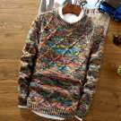 Design Fashion Quality Color Man Knitting Self Cultivation Twist Youth Business Leisure Sweater Coat