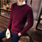 Men\'s Casual Leisure O-Neck warm knit Sweater famous Brand Pullover Knitting Sweaters Men Plus larg