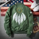 2017 Bomber Jacket Men Pilot with Patches Army Green  Thin Pilot Bomber Jacket Men Wind Breaker Jack