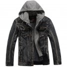 2017 New Brand Winter Denim Jacket Men Fashion Thick Warm Detachable Hooded Men Vintage Parka Bomber
