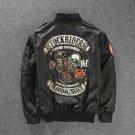 2018 New Stockriders Motorcycle Luxury Brand Bomber Jackets Men Big Size Baseball Skull Jacket Men P