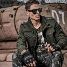 LetsKeep 2017 New spring army mens bomber jacket badges military jacket 4XL men casual tactical coat