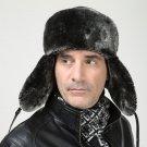2017 Men Thick PU Leather Bomber Hats Winter Earflap Russian Hats Ushanka Trapper Windproof Casual W