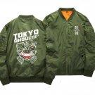 Anime Tokyo Ghoul Bomber Jacket Kaneki Ken Printed Stand Collar Baseball Jacket Pilot Jackets Free S
