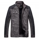 Winter Men Leather Jacket PU Stand Collar Motorcycle Leather Jackets Men Jaqueta De Couro Bomber Jac