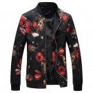 Floral Jacket Coat Men Flower Printed Mens Bomber Jackets Plus Size 5XL Windbreakers Coats Casual Sl