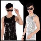 new fashion Stage costumes Sequins  Vests men\'s clothing ds paillette Performance vest costume tide