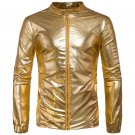 Men\'s personality of the four seasons can wear jacket Golden silvery color casual brand coat 2017 n