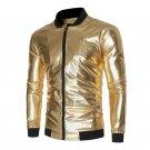 New Autumn Golden Jacket Men Luxury Shiny Jacket Fashion Nightclub Clothing Glittering Silver  Jacke