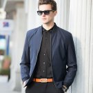 2017 New Men\'s Fashion Bomber Jacket Autumn Solid Color Stand Collar Slim Casual Jacket Coat Brand