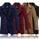 Hot Plus size XXXXL Spring Autumn New 2014 Men\'s Casual Stand Collar Trench coat Men Wool Coat Over