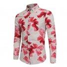 Autumn Spring Men Fashion Floral Long Sleeve Shirt Leisure Fitness Multi Colors Mens Retro Shirts Cl