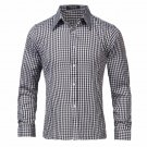 Spring Autumn Men Long Sleeve Shirt Casual High Quality Formal Business Office Plaid Mens Dress Shir