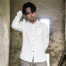 Envmenst 2017 New Fashion Male Linen Pure Cotton Shirt Causal Long Sleeve Shirt Men Turn Down Collar